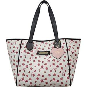 NWTJuicy Couture White Ditsy Rose Love Me Not Tote